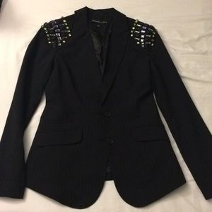 Elizabeth and James jewel shoulder blazer